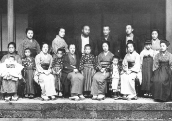 First Anniversary of the Sixth Bunkichi's Death - commemorative photograph of the Ito Family